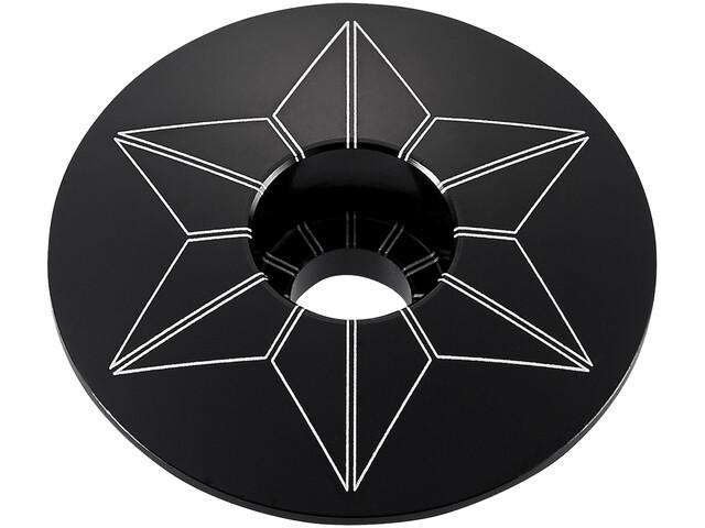 Supacaz Star Capz geanodiseerd zwart